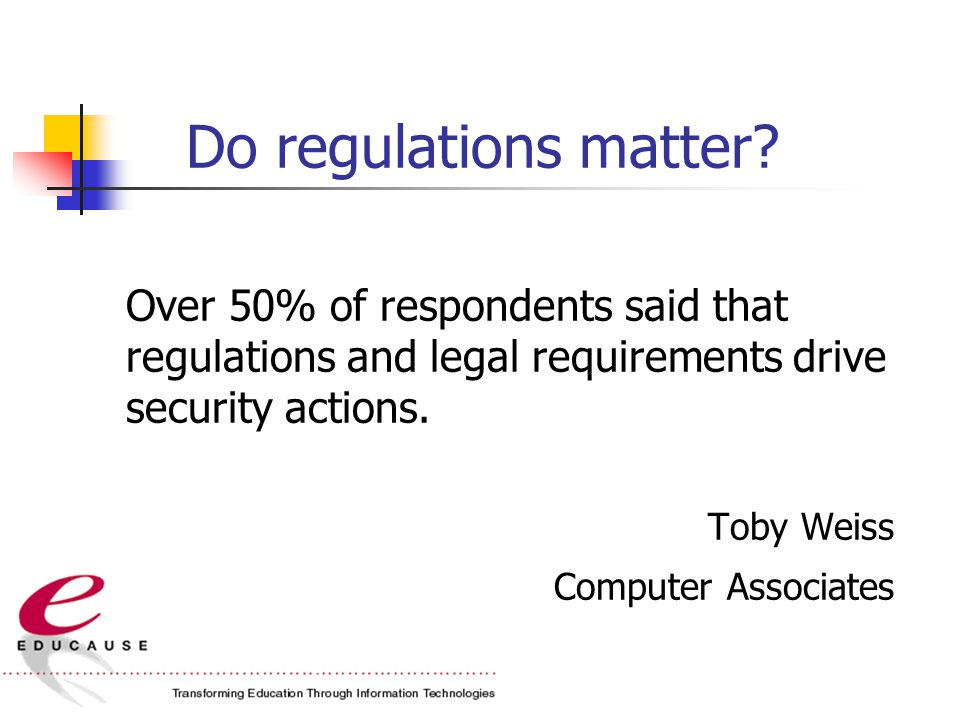 Do regulations matter.