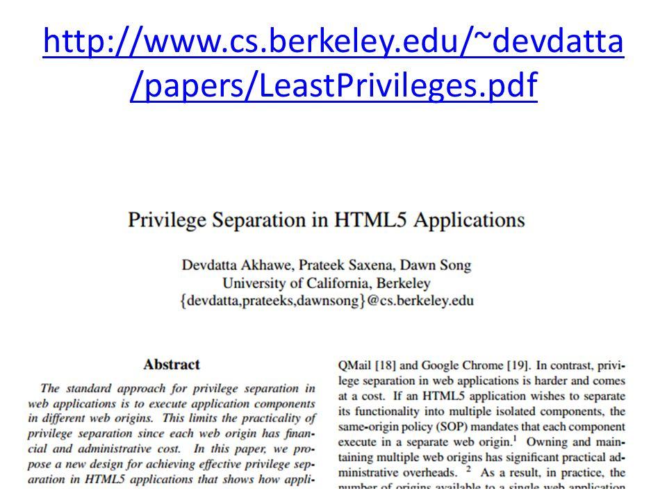 http://www.cs.berkeley.edu/~devdatta /papers/LeastPrivileges.pdf