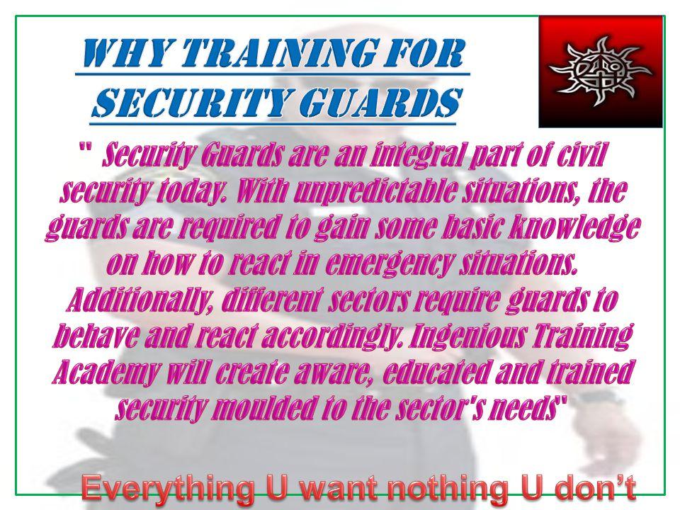 Fire Safety/Emergency Management/ Behavioural Skills/Patrolling