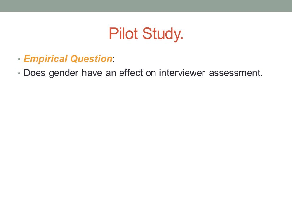 Method(s) Created a gender indicator based on interviewer's name.
