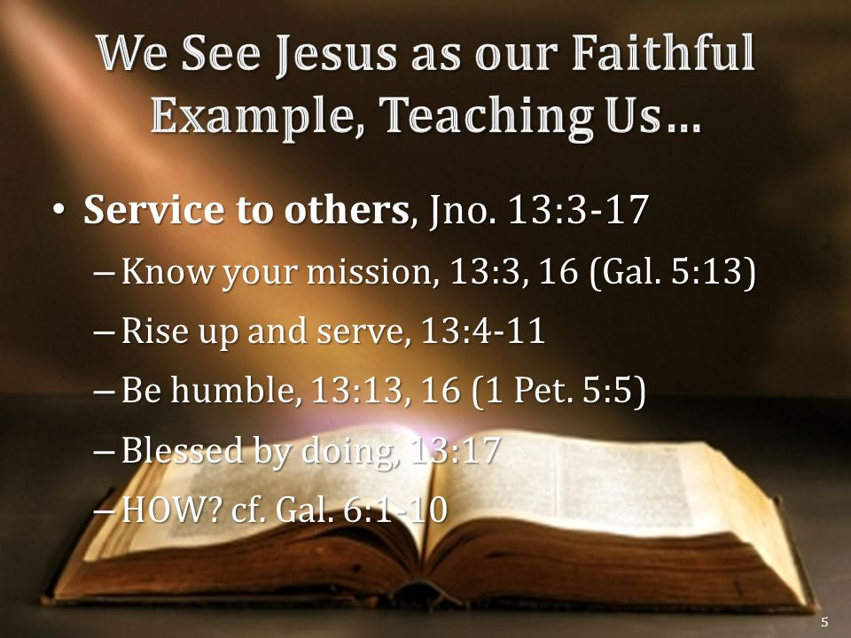 Service to others, Jno. 13:3-17 Service to others, Jno.