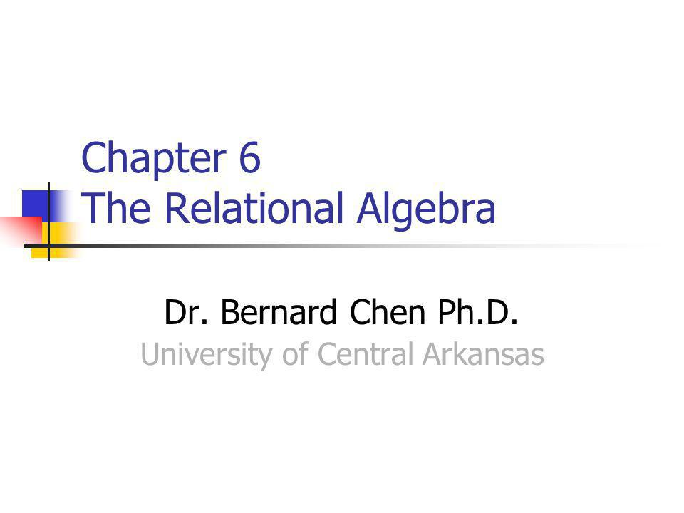 Relational Algebra Relational algebra is the basic set of operations for the relational model These operations enable a user to specify basic retrieval requests (or queries)