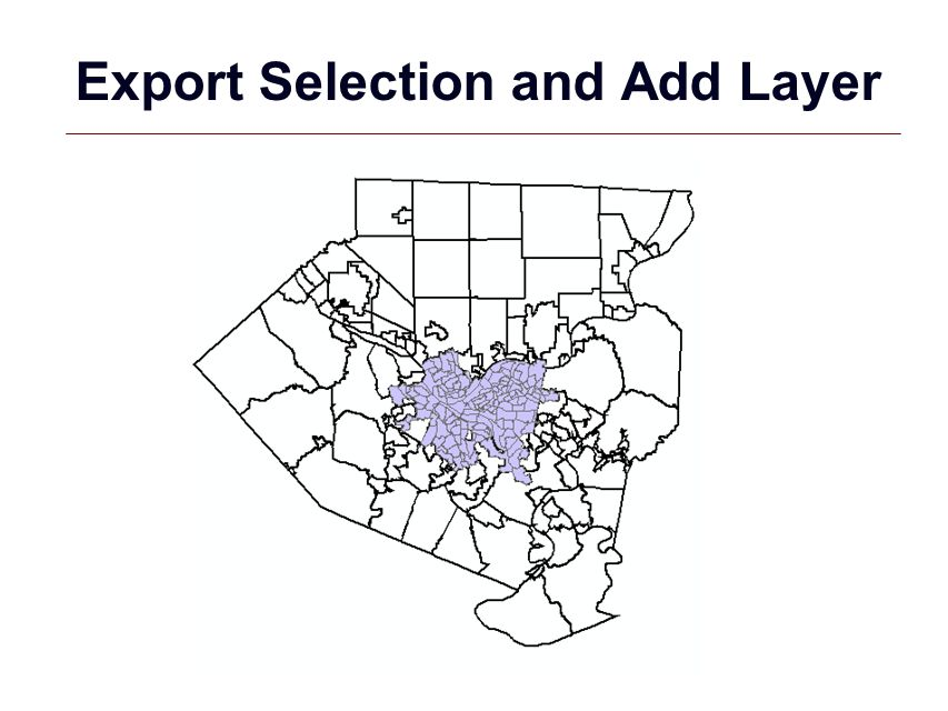 GIS 12 Export Selection and Add Layer