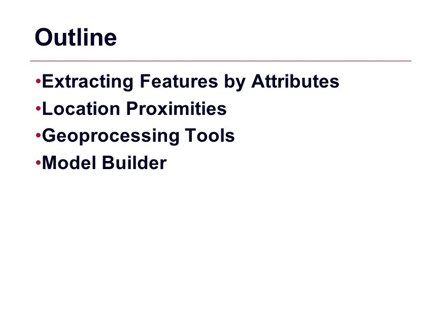 GIS 3 Extracting Features