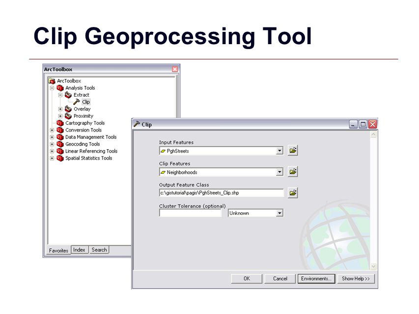 GIS 25 Clip Geoprocessing Tool