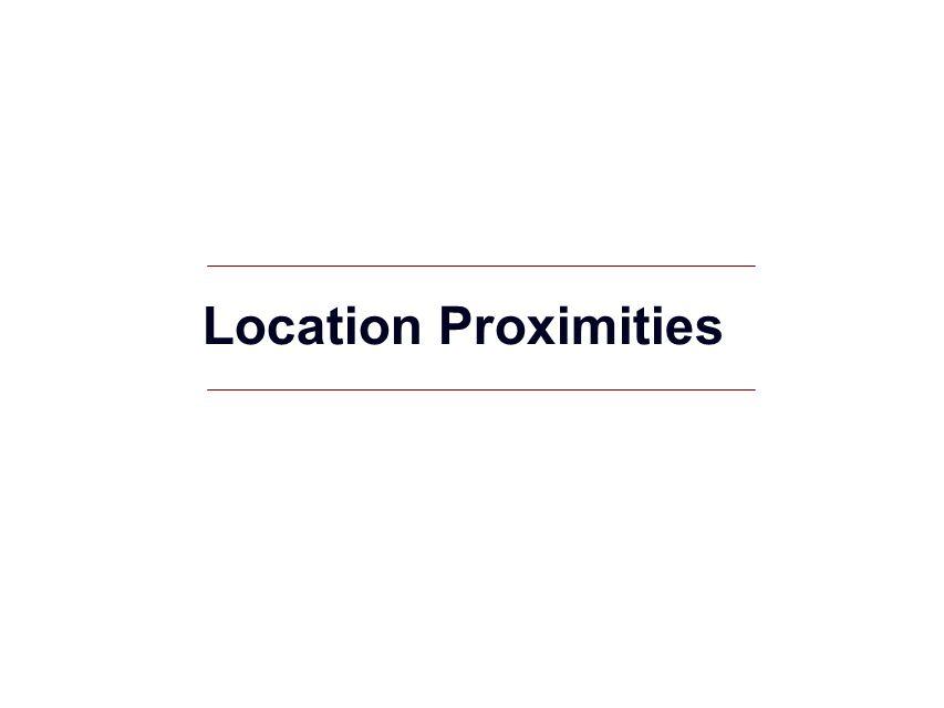 GIS 8 Location Proximities