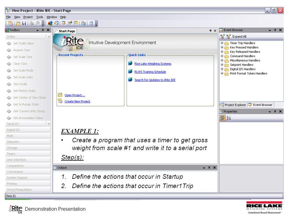 Demonstration Presentation