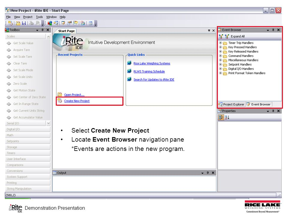 Demonstration Presentation EXAMPLE 2: Create a program featuring a user prompt to set the target value for a setpoint Step(s): 1.Define the actions that occur in Soft1Keypressed
