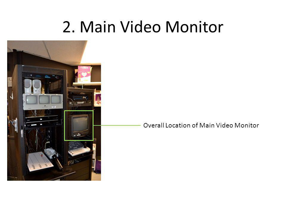 Main Video Monitor Detail The main video monitor will provide the three following views.