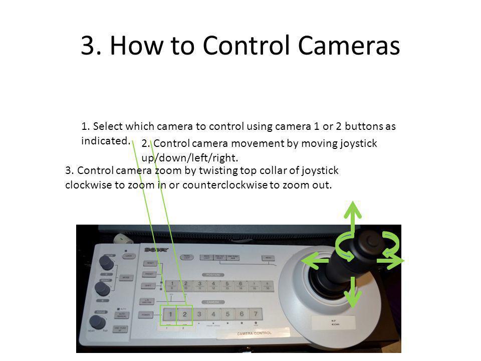 3. How to Control Cameras 1.