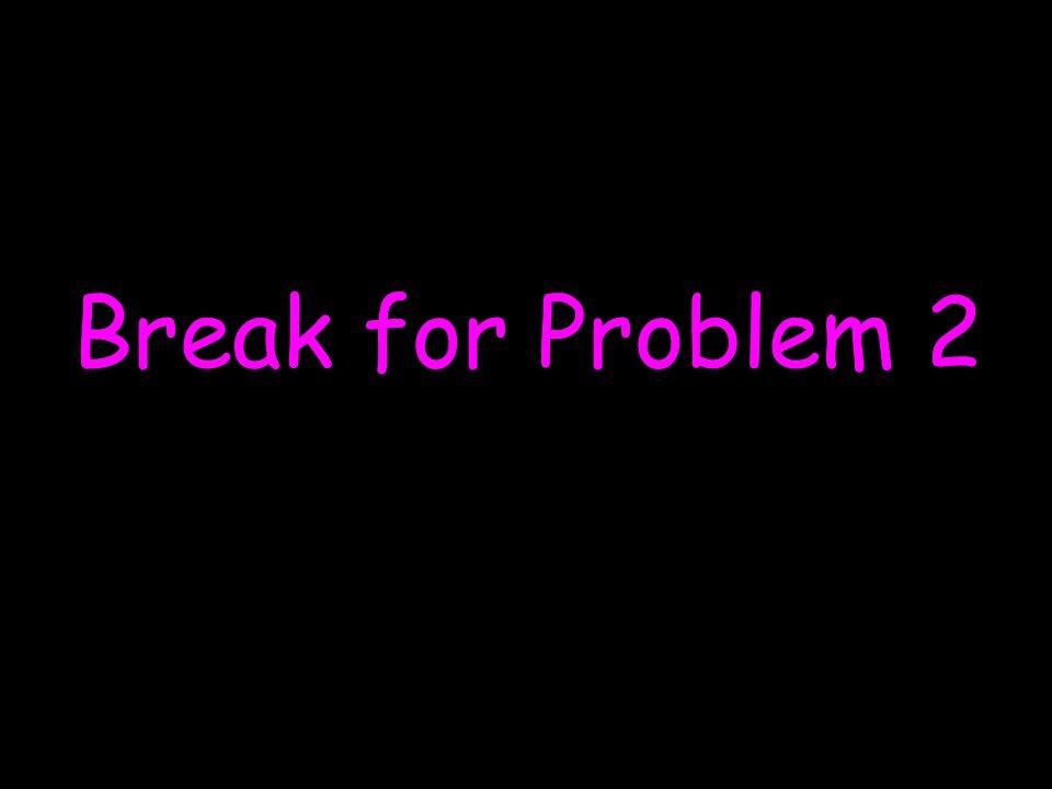 Break for Problem 2