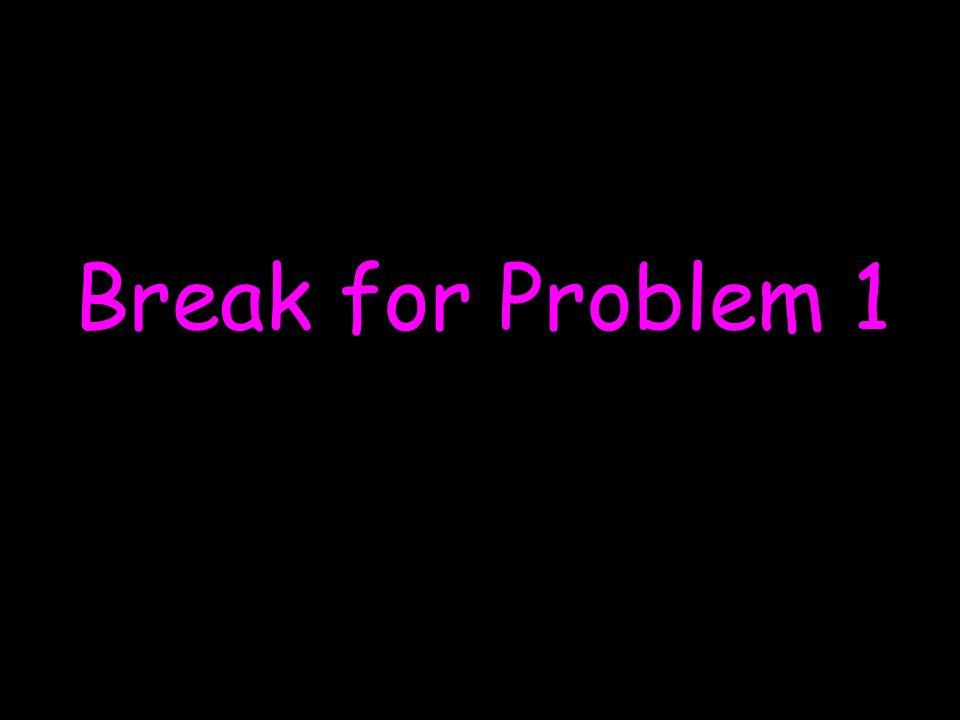 Break for Problem 1