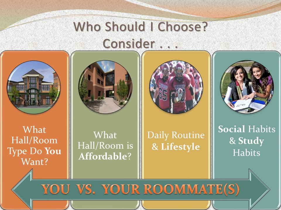 Who Should I Choose. Consider... What Hall/Room Type Do You Want.