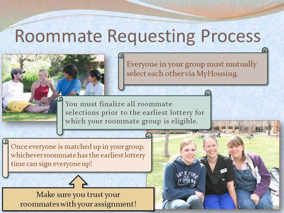 Everyone in your group must mutually select each other via MyHousing.