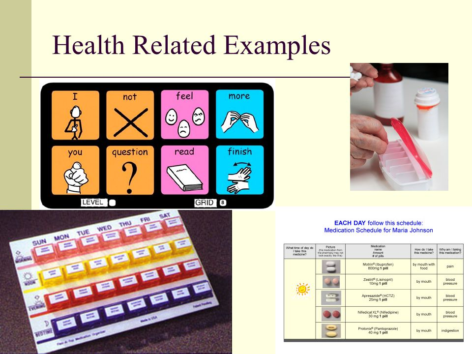 Health Related Examples
