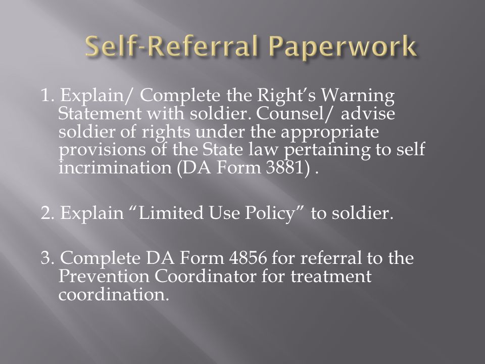 1. Explain/ Complete the Right's Warning Statement with soldier.