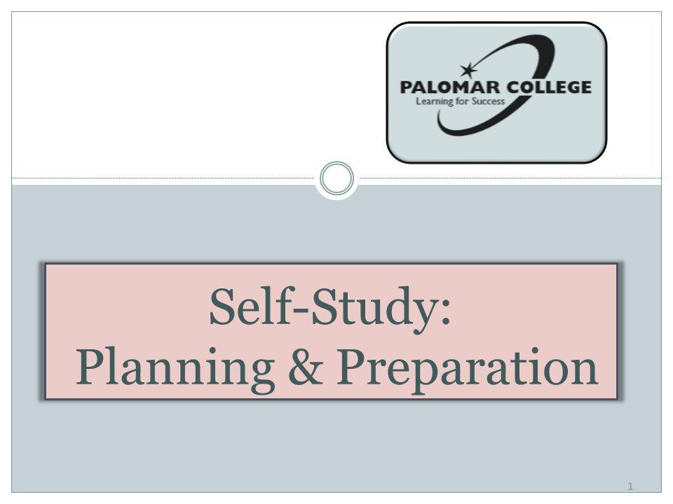 1 Self-Study: Planning & Preparation