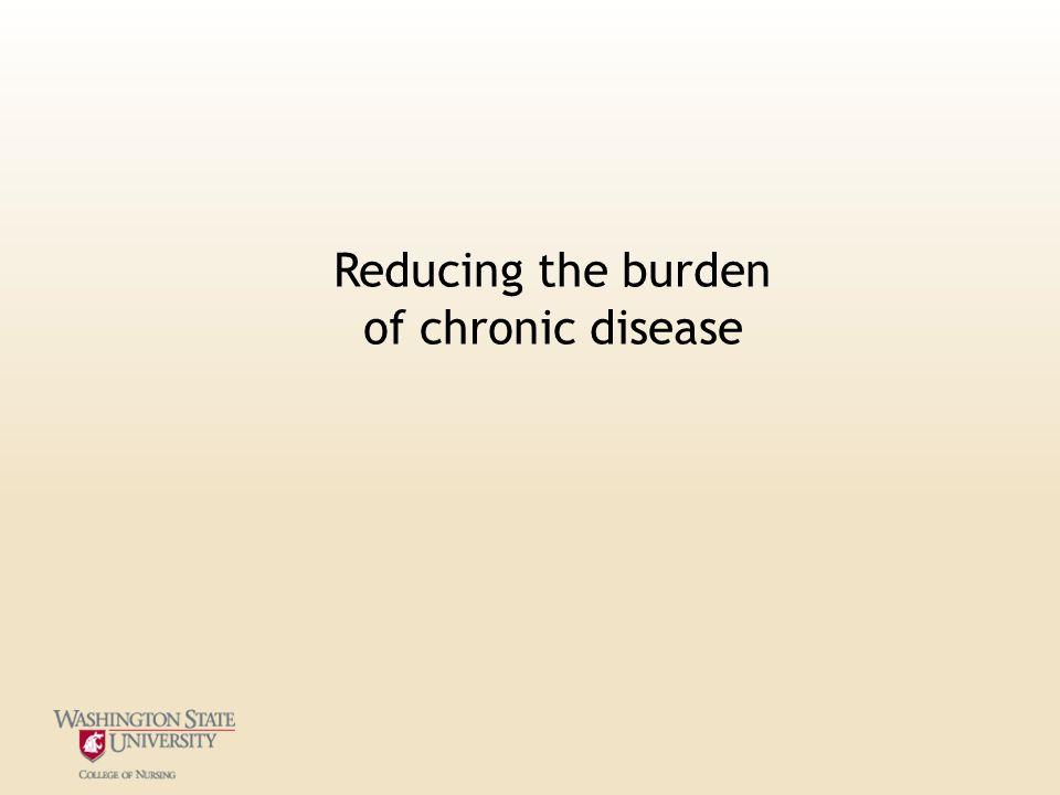 Reducing the burden of chronic disease