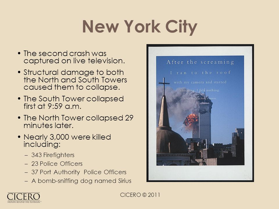 New York City The second crash was captured on live television.
