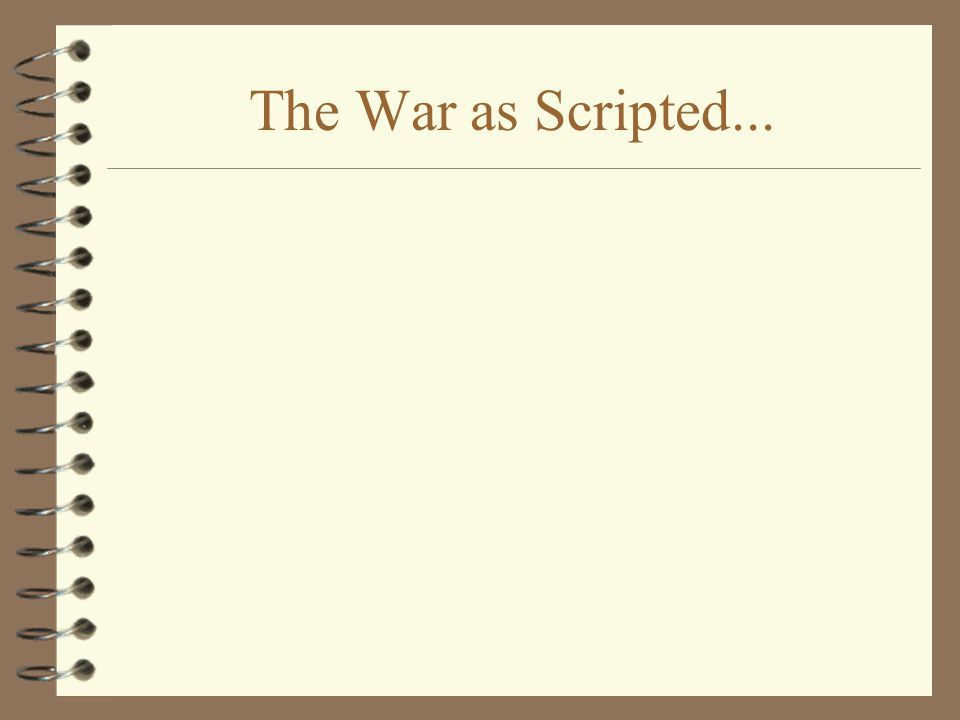 The War as Scripted...