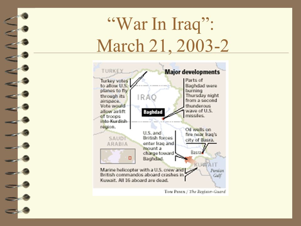 War In Iraq : March 21,