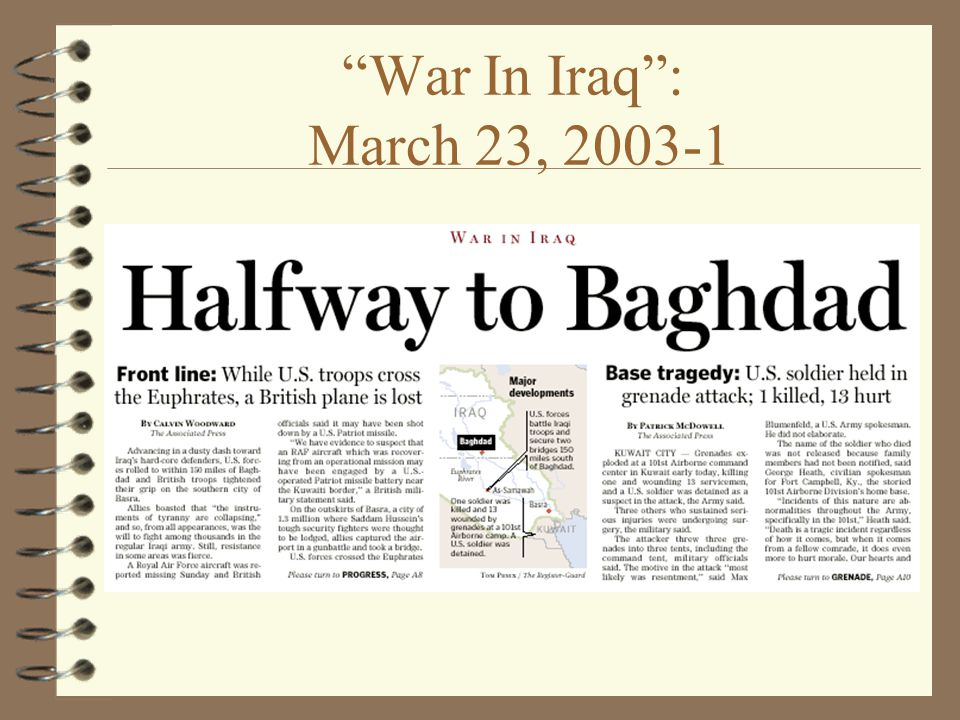 War In Iraq : March 23,