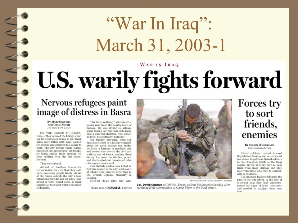 War In Iraq : March 31,