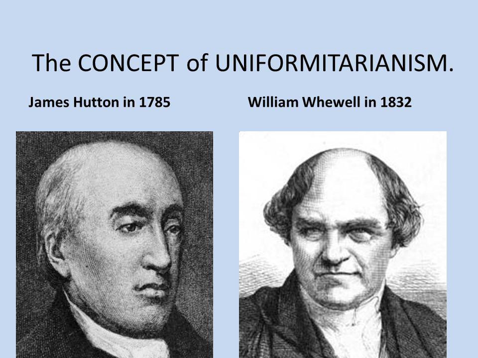 The CONCEPT of UNIFORMITARIANISM.