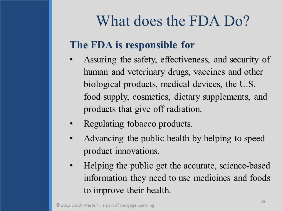What does the FDA Do.