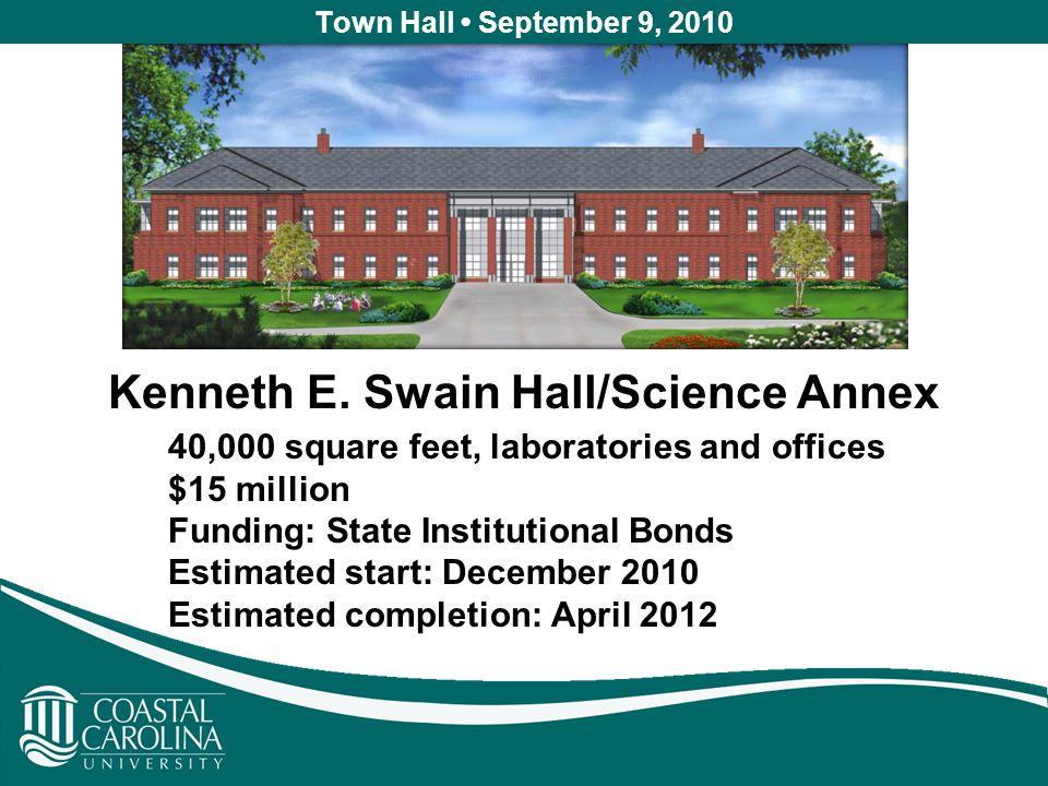 Town Hall September 9, 2010 Kenneth E.