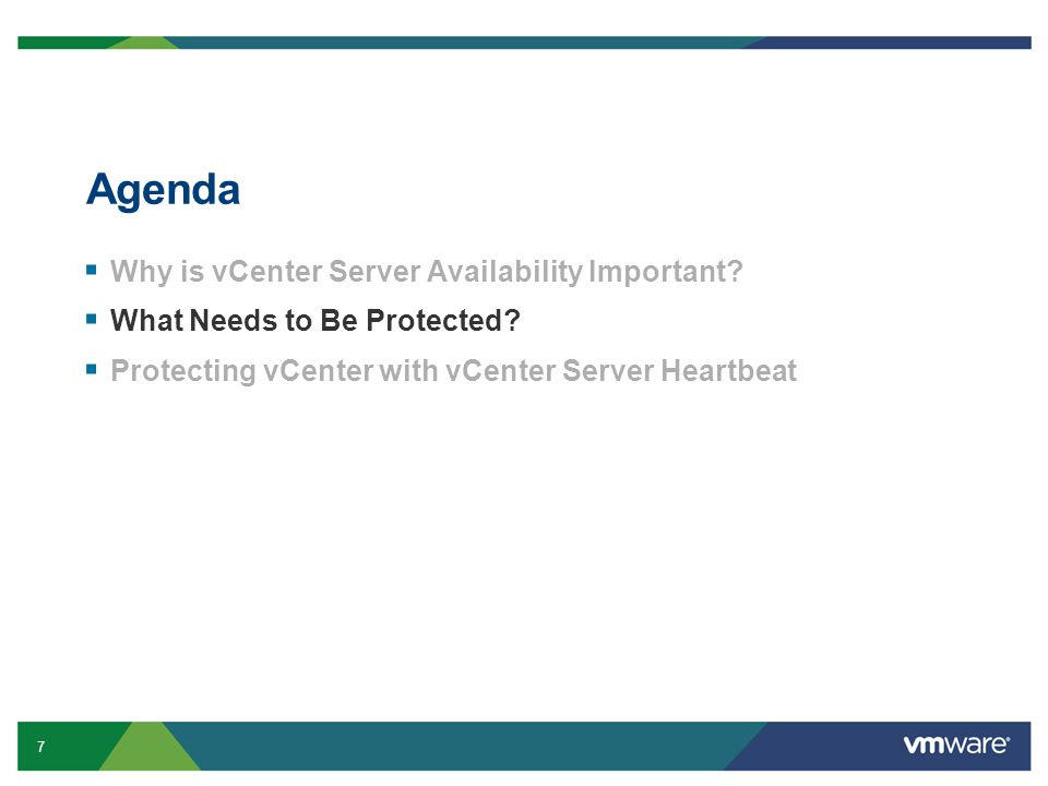 18 vCenter Server Heartbeat: Improved User Interface Simplified hierarchy view of all protected services Status information on Primary Server
