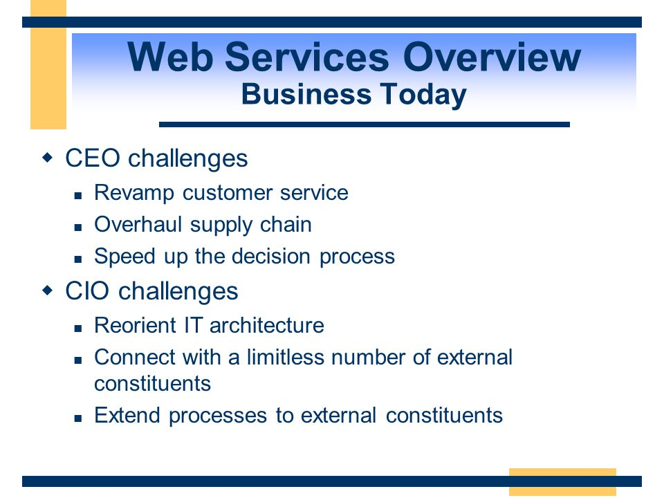 Agenda  Web Services Overview  Underlying Technologies  Developing a Web Service  Consuming Web Services  Miscellaneous .NET My Services  Demo