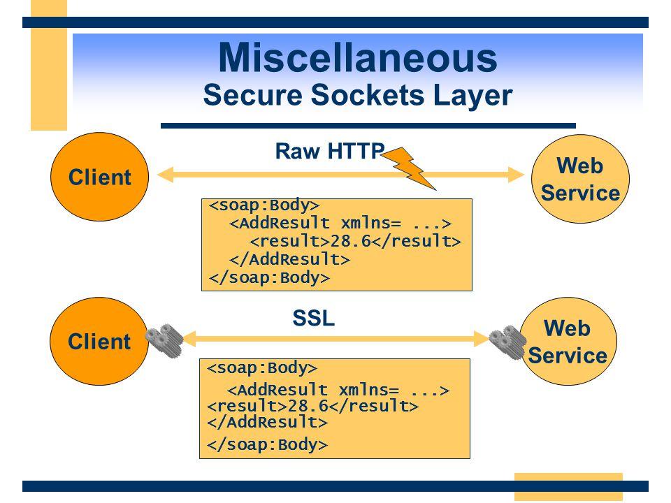 Web Service RMI Service DCOM Service Client   Firewall Port 80 Miscellaneous HTTP and Firewalls