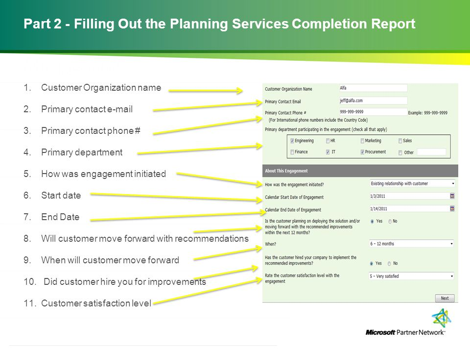 http://channelincentives.microsoft.com Transparency Simplicity Engagement 6 | Channel Incentives Platform Part 2 - Filling Out the Planning Services C