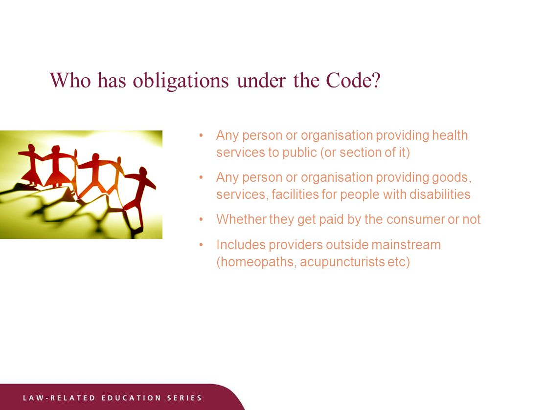 Who has obligations under the Code.