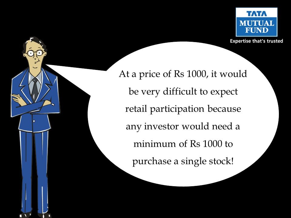 At a price of Rs 1000, it would be very difficult to expect retail participation because any investor would need a minimum of Rs 1000 to purchase a si