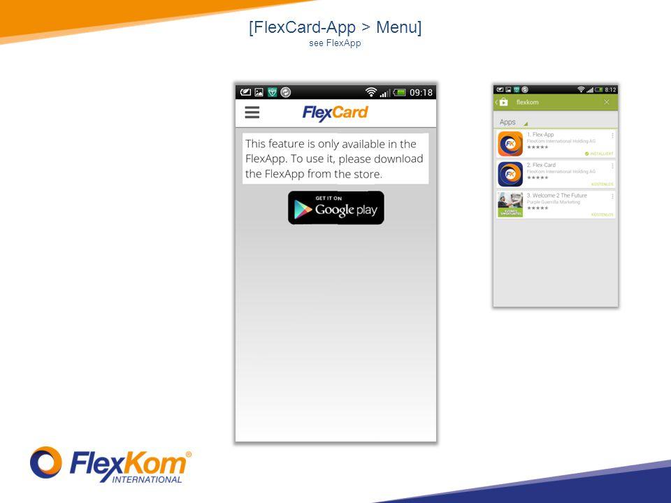[FlexCard-App > Menu] see FlexApp
