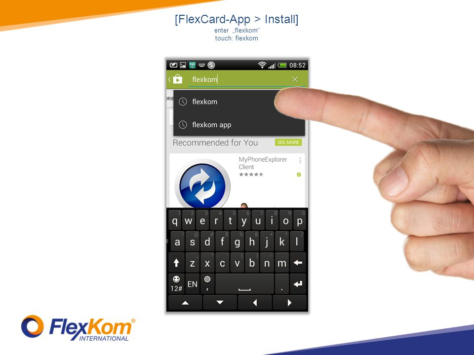 [FlexCard-App > Install] touch: 2. Flex-Card !!! NOT 1. Flex-App !!!