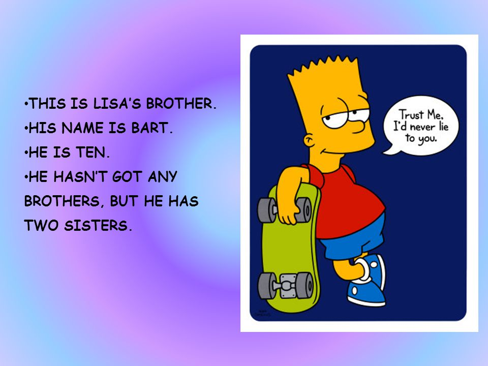 THIS IS LISA SIMPSON. SHE IS EIGHT. SHE LIVES IN 49 SPRINGFIELD STREET.