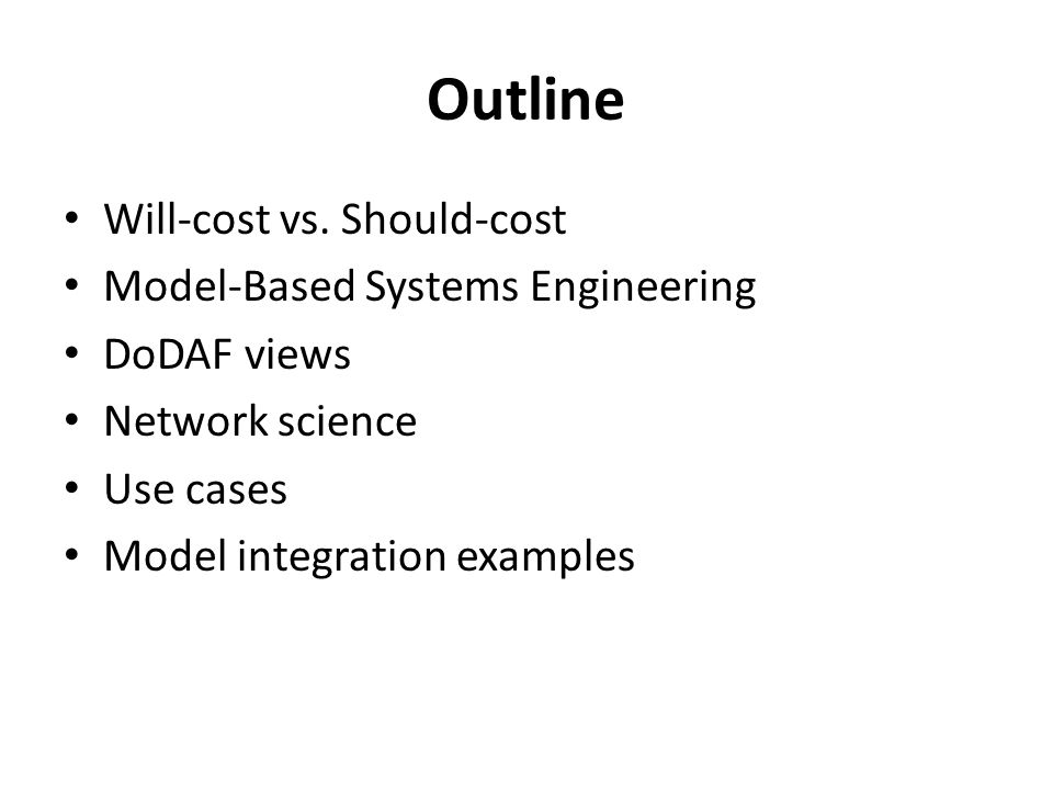 Outline Will-cost vs.