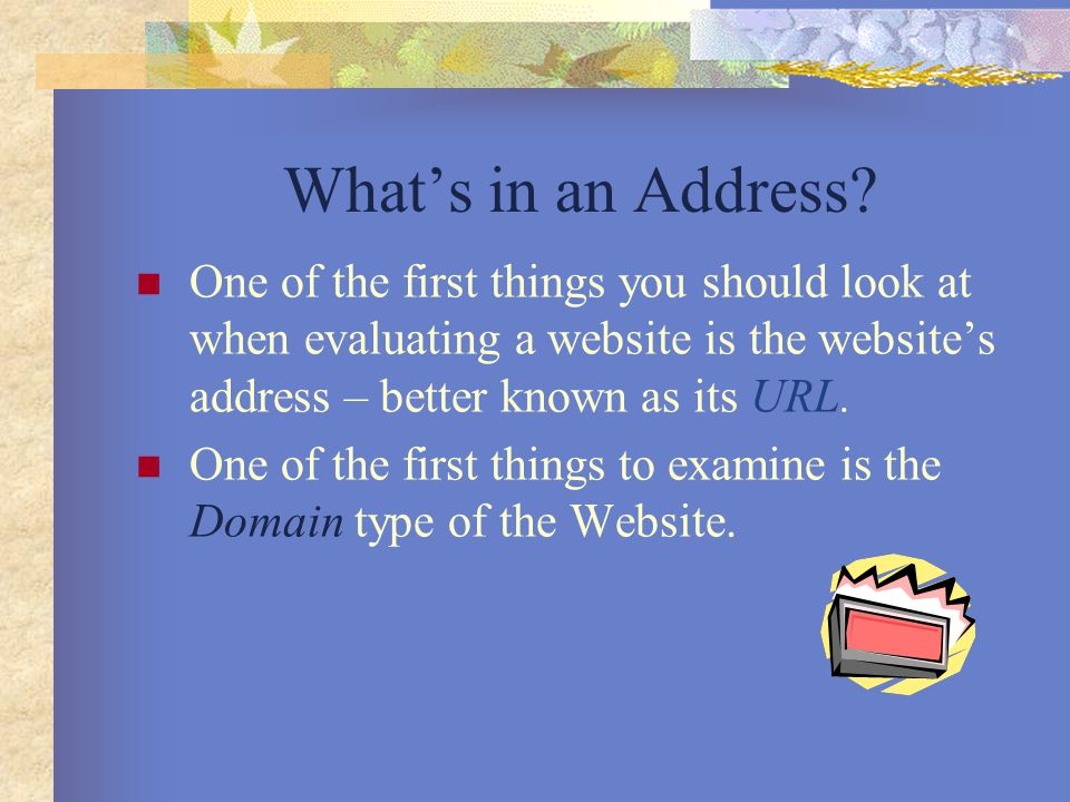What's in an Address.
