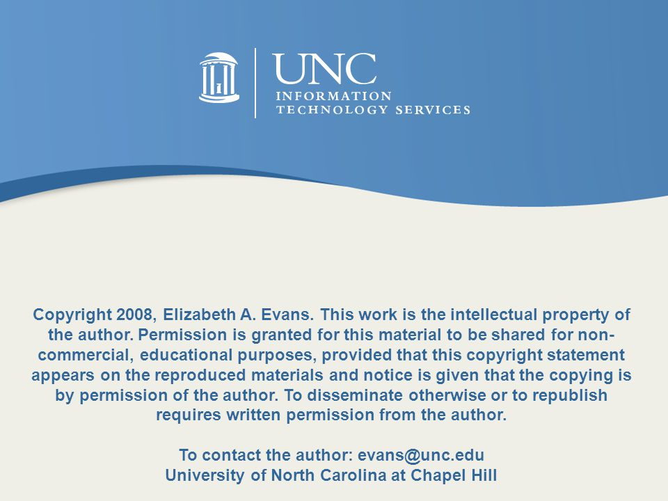 Copyright 2008, Elizabeth A.Evans. This work is the intellectual property of the author.