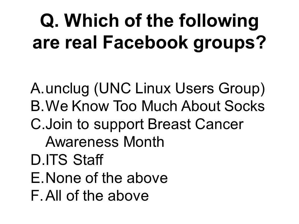 Q. In 2006, how many UNC Chapel Hill freshmen used Facebook 94 percent