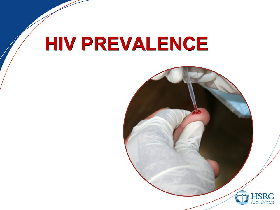 National HIV Household Survey South Africa 2012 HIV prevalence, total population: 12.2% (2008: 10.6%) 6.4 million living with HIV/AIDS (based on Statistics South Africa's mid-year population estimate for 2012: 52.3 million)