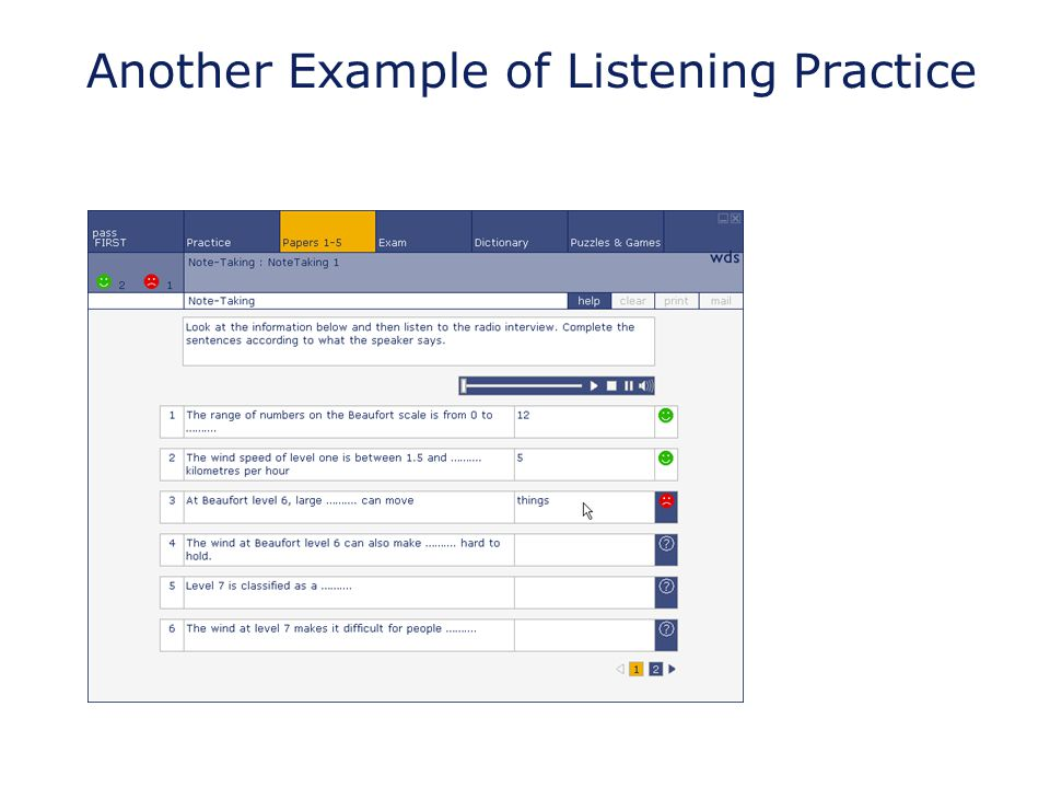Another Example of Listening Practice