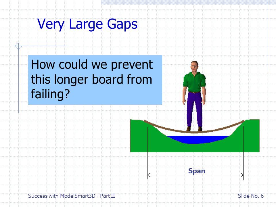 Success with ModelSmart3D - Part II Slide No. 5 A Small Foot Bridge