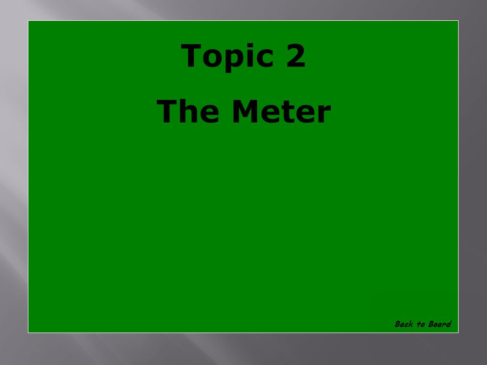 Topic 2 What is the base unit of length for the International System of Measurement Show Answer