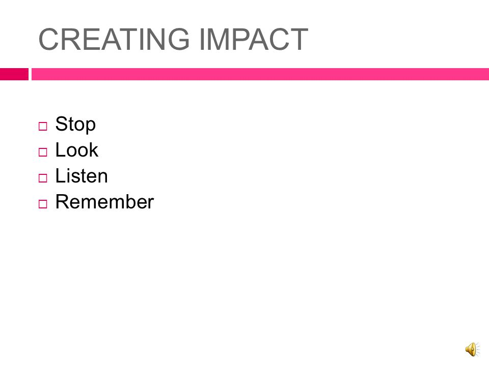 WOMEN'S SHOW SERIES CREATING IMPACT PRESENTATION # 5