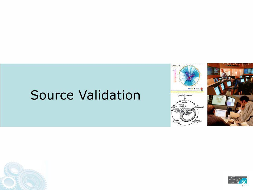 Source Validation 111