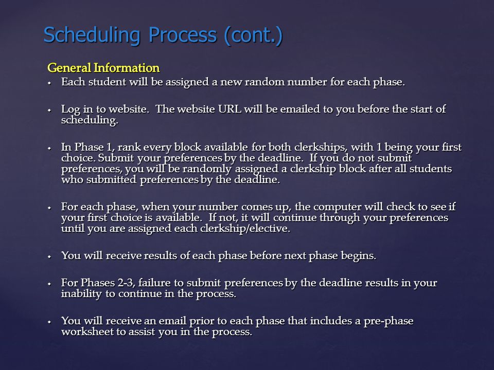 Scheduling Process (cont.)